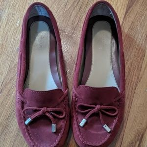 MK leather flats, gently worn, Burgandy size 7